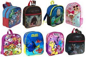 Kids Backpack Boys Girls Junior Toddler Marvel Disney School Lunch Bag Rucksack