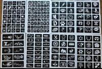 30er Überraschungsset Henna Schablonen für Henna Tattoos Schablonen Set 16D