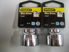 NEW STANLEY 3/8 in Drive  15/16 INCH  MAX DRIVE 12  POINT SOCKETS  TWO SOCKETS