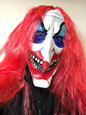 Pagliaccio Spaventoso Maschera adulto Evil IT Vestito per Halloween Rosso
