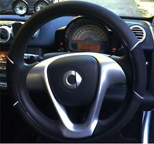 Supreme Steering Wheel Cover Noir-Noir en Cuir Souple Look confort pour PEUGEOT