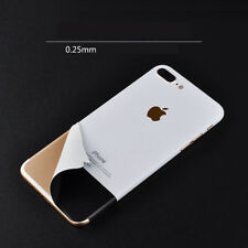 Ultrathin White & Black Rear Vinyl Skin Wrap Sticker Decor For iPhone X 7 8 Plus
