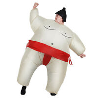 Sumo Wrestler Costume Inflatable Suit Blow Up Party Outfit Cosplay Dress Kid Men