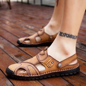 Sandals Beach Slingbacks Shoes Closed Toe Sports Walking Non-Slip Flats New Mens