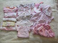 Pink/Multi- Baby Girls Clothing Bundle X16 Items #1
