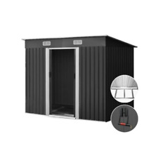Giantz Garden Shed Sheds Outdoor Storage 1.94x1.21m Tool Metal Base House