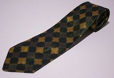 THE SANGER HARRIS MAN Vintage Men's Silk Green Necktie Made In England