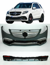 Mercedes GLE SUV W166 63 AMG Look body kit Front Rear bumper conversion EXHAUST