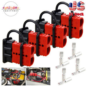 4PCS 50A Quick Connector Battery Cable Trailer Harness Disconnect Connect Plug