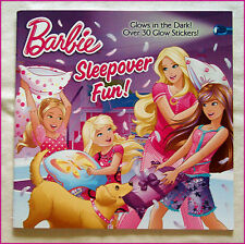 BARBIE Story BOOK 30+ Glow in the Dark Stickers - SLEEPOVER FUN! - Colourful NEW