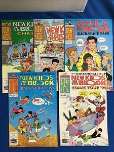 Harvey: New Kids On The Block Related Comic Lot (5)VF