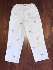 Vineyard Vines 5 6 yr Boys lacrosse Khaki pants emb 00006000 roidered lax sticks