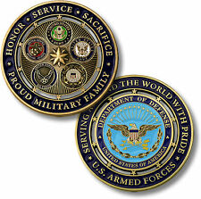 Proud Military Family / U.S. Armed Forces - Challenge Coin