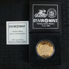 1998 Environmint Super Bowl XXXIII Coin SAMPLE/ Bronze Says .999 Silver Broncos