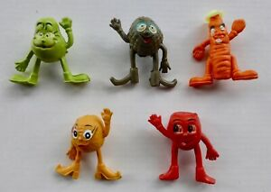 COLLECTABLE VINTAGE 70S MUNCH BUNCH PENCIL TOPPER PEN TOPPERS X 5 COLLECTION