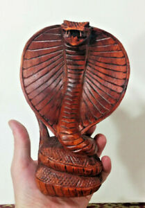 Small Cobra, Hard Wood Hand Carved, Made in Bali, Indonesia - Wisodom, Strength