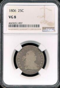 1806 Draped Bust Quarter NGC VG 8