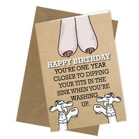 #243 Greetings Card / Comedy / Rude / Funny / Humour / Birthday / Mum / Auntie