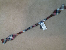 Polo Ralph Lauren Bow Tie Plaid Madras Navy Red 100% Cotton Made in Italy