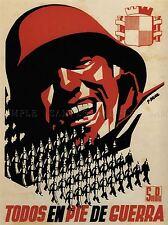 WAR PROPAGANDA SPANISH CIVIL SOLDIER ENLIST SPAIN VINTAGE ADVERT POSTER 2827PYLV