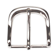 4.0 Chrome-Filled Pin Belt Buckle European Fit Leather Belt Wholesale