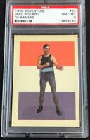1956 TOPPS ADVENTURE BOXING #33 JESSE WILLARD PSA 8 NM-MT