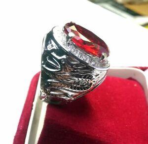 Beautiful Cambodia Zircon 66.50 Cts Gemstone Astrological Men's Ring Size 10 Gem