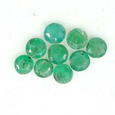 Natural Emerald Round Cut Lot 9 PCS 3 mm Untreated 1.05 Cts Zambian Gemstone A15