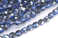 50 Midnight Dreams AB Czech Glass Faceted Beads 6MM