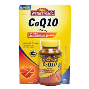 Nature MadeCoQ10 200 mg - 140 Softgels Clearance EXP 01/2021
