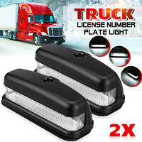 2x 6 LED REAR LICENSE NUMBER PLATE LIGHT LAMP TRUCK CARAVAN TRAILER LORRY SUV