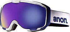 Burton Anon M1 Men Snowboarding Goggles (White / Blue Solex)