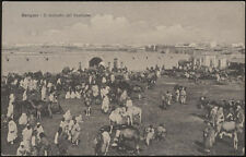 cartolina militare BENGASI il mercato del bestiame