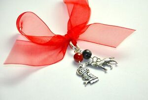 Exam Success Crystal Charm Carnelian for Calm Clever Courage obsidian owl wolf