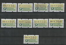 GERMANY-9 USED ATM-AUTOMATIC STAMPS-MACHINE-ANIMATION-1981/1982.