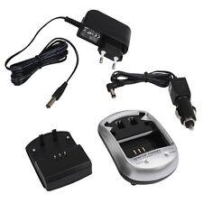 Caricatore 500ma + caricabatterie auto per Nikon Coolpix p7000
