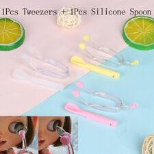 EyeCare Contact Lenses Inserter Remover Silicone Soft Tip Tweezer Stick Cas JR