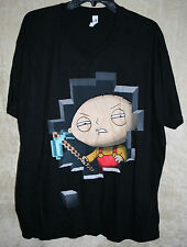 "NWT Switcher Graphic Crew Tee shirt Black ""Minecraft Stewie"" XXL 100% Cotton"
