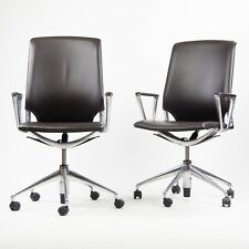 Vitra Alberto Meda Desk Chair Brown Full Leather Knoll Herman Miller 16x Avail