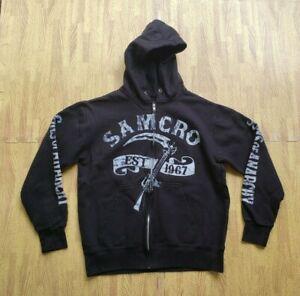 Sons of Anarchy SAMCRO Full Zip Hoodie Sweatshirt Jacket Men's Medium Prospect