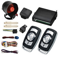 1 Way Car Auto Protection Alarm Security System Keyless Entry Siren & 2 Remote ~