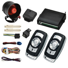 1-Way Car Vehicle Protection Alarm Security System Keyless Entry Siren +2 Remote