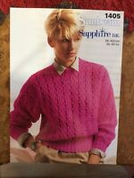 Womens knitting patterns.jumpers.size 30-40 inch bust.DK.Sunbeam pattern