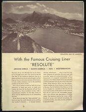 1934 Hamburg-American Line / North German Lloyd Travel Brochure