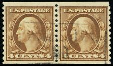 457, Used XF 4¢ Coil Pair Very Scarce & Genuine! - Stuart Katz