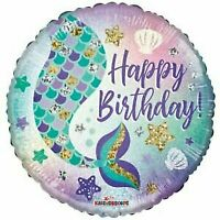 """4x Pc Mermaid Tail 18"""" Foil Balloon Birthday Decorations ~Party Favor Supply~"""