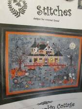 Seedy Pumpkin Cottage Halloween Haunted House Cross Stitch CHART 338x237 Stitche