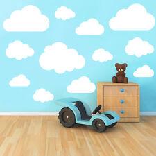 Conjunto de 21 Nubes Vinilo Adhesivo Mural Habitación Niños Guardería Decoración
