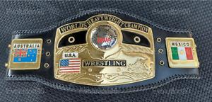 NWA Domed Globe World Heavyweight Wrestling Championship Belt Replica Zinc