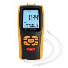 Digital Manometer Luft Gasdruck Meßgerät Differential Dual Port HKL Tester